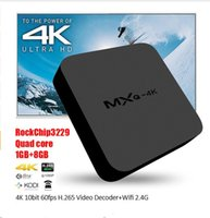 Wholesale MXQ K TV Box Smart Boxes Rockchip RK3229 KODI Fully Loaded H K tps Support HD Media Player Android TV Box Remote Control vs MXQ