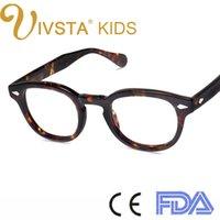 Wholesale IVSTA High quality Handmade acetate frames women Johnny depp glasses men Brand designer eyewear Cellulose Moscot Lemtosh