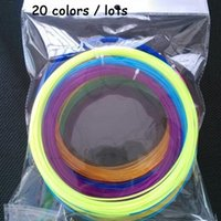 Wholesale 5m PLA filament mm colouful D Drawing Pen Filament Supplies hight quality