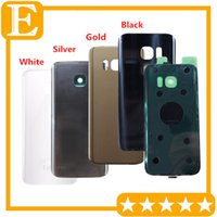 Wholesale Original New For Samsung Galaxy S7 edge G9350 G935 VS S7 G9300 G930 F Glass Battery Door Back Cover Housing Case Adhesive Sticker