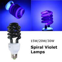 Wholesale New Arrival E27 W Spiral Enegy Saving UV Ultraviolet Fluorescent Black Light CFL Light Bulb Violet Lamps V nm
