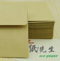 Wholesale kraft paper envelopes blank without printing DIY hand painted