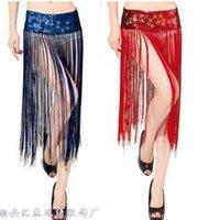 accessories stage skirt - New Stage Wear Fashion Sequins Tassel Hip Scarf Wrap Belt Accessories Waist Chain Womens Belly Dance Costume Sexy Nightclubs Skirts
