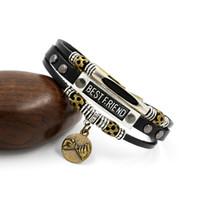 best mens jewelry - Vintage Mens Lover Bracelets Letter BEST FRIEND Leather Bracelets Friendshiop Bangles Good Jewelry Europe Fashion