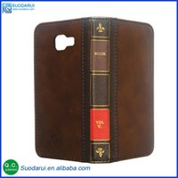 bible business - Retro Bible Vintage Flip Leather Phone Cover Case For Samsung Galaxy A5 A510 Business Book Wallet Pouch With H Nano coated Films