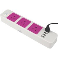 Wholesale DHL free Smart Power Strip AC Outlets USB Charging Ports Feet Extension Cord