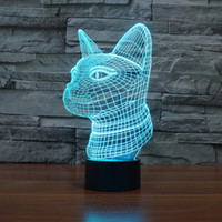 bank conversion - Cat head diy Acrylic D lamp night light usb led power bank bedroom wedding decoration base powerbank color conversion lampe