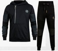 Wholesale New philipp pleinn Mens Hooded Tracksuits Jogging Hip Hop Sportsuit Sportswear Skull Rock PP suit Hoodies Trousers Pants Dance Jacket