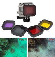 Wholesale 4pcs Diving Filter Gopro HERO Camera Housing Case Underwater Lens Converter