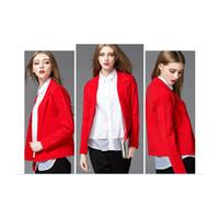Cheap A102-Korean Style Women Cardigan Knitwear Women Outwear Coat Tailored Collar Ladies Suit Cardigan Work Office Warm Wear