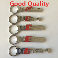 audi keychains - Car Keychains for Audi Sline S3 S4 S6 RS4 Resin Metal Chrome D Keychains Automobiles Keychains