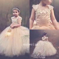 Wholesale Princess Tutu Flower Girl Dress Kid Party Pageant Wedding Bridesmaid Dresses