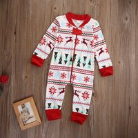 baby boy jumpsuits - 2016 winter christmas baby rompers Zipper Full Cover kids Boy Girl Xmas Long Sleeve Romper high quality Jumpsuit child Clothes