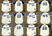 Wholesale Retro Custom HANK AARON CHIPPER JONES Baseball jersey JOHN SMOLTZ DUSTY BAKER PHIL NIEKRO jersey White Mens Stitched jerseys