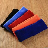 Wholesale pc colors Aolikes High Quality Cotton Sports Sweat Headbands For Men amp Women Tennis Badminton Yoga Hair Bands