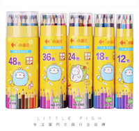 Wholesale 24 Color Student Stationery With Colored Pencil Art Colored Pencils Drawing Pencils Wood Pencils for Secret Garden Artist Sketch AG