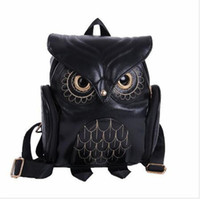 animal backpacks for school - Ladies Owl Backpacks Women Cartoon School Bags For Teenagers Girls PU Leather Women Backpack Brands