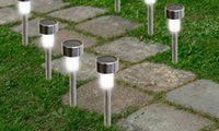 Wholesale 24 Pack Outdoor Stainless Steel Led Solar Power Light Lawn Garden Landscape Path