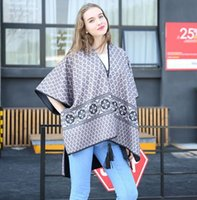 Wholesale Both sides wearing Womens printing imitation cashmere shawl Su national romantic variety Cloak