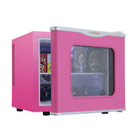 Wholesale Household L mini dormitory refrigerator fresh Chilled glass single door food sample cabinet small semiconductor refrigerator