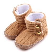 big boot sole - Warm Baby Girls Boots Woven Wool and Cotton Fabric Big Rivet Hook loop Warm Linning Soft Anti slip Sole Infant Walking Shoes Months