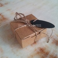 Wholesale Square Kraft Paper Box With Tags And Hemps Gift Wrapping Paper Soap Box with Cards And Rope Cardboard Paper SOB