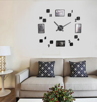 big multi photo frames - 2015 new arrival Quartz clocks fashion watches d big acrylic wall clock with photo frame diy living room decor