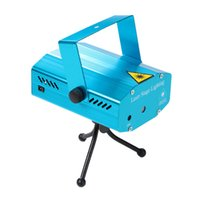 Wholesale Mini Laser Projector Stage Effect Light Voice Activated DJ Disco Xmas Party Club Strobe Lighting Pattern with Tripod DHL H14735