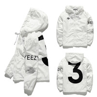 Wholesale YEEZY3 Jacket Men KANYE Hip Hop Windbreaker YEEZUS TOUR Jackets Men Women Streetwear Fashion Hip Hop Outerwear uniform coat