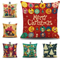 Wholesale 2016 Christmas Trees Pillow Case Colorful Christmas Theme Pillow Case Party Decor Dazzle Colour Cushion Cover Home Sofa Couch Chair Cushion