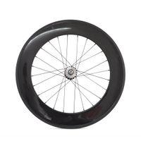 Wholesale 3K Matte C MM Carbon Clincher Track Bike Fixed Gear Rear Wheels Single Speed hole
