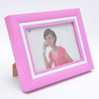 glass photo frame - Bright Candy Color Thickened Plastic Photo Picture Frame with Glass for x Inch Photos Colors