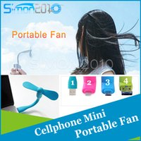 Wholesale 5Pin Pin super mini cute charging micro usb fan for phone For Android Phone Iphone S Plus