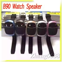 aac radio - B90 Sport Watch Bluetooth Mini Speaker With FM Radio Support TF Card Super Bass For Samsung Mobile Phone