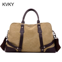 Wholesale Vintage Military Canvas Men Travel Bags Carry on Luggage Bags Men Duffel Bag Travel Tote Large Weekend Bag Overnight
