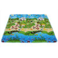 animal rug kids - 150 cm Baby Toys Foam Vhildren s Play Mat Floor Kids Rug Carpet for Children Letter Animal Paradise Safety Kids Climb Blanket