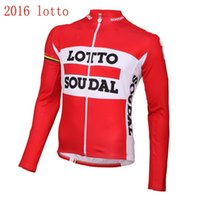 Wholesale 2016 autumn new Style Breathable jersey Sunscreen quick dry cloth Bicycle maillot pro team lotto soudal long sleeve cycling jersey