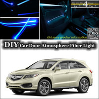 acura rdx white - Cool EL Light For Acura RDX Tuning Atmosphere Fiber Optic Band Lights DIY interior Ambient Light Door Panel illumination Refit