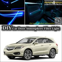 acura rdx red - DIY interior Ambient Light Tuning Atmosphere Fiber Optic Band Lights Cool EL Light For Acura RDX Door Panel illumination Refit