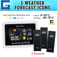 Cheap WS-104-US_3S Wireless Weather Station + 3 Sensor with LED Backlight