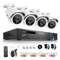 Wholesale ANNKE CH DVR TVL Video Night Vision Home Surveillance Security Cameras System With NO HDD