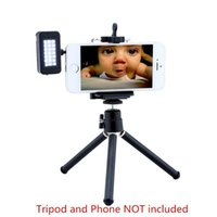Wholesale Mini External LED Speedlite Flash Pocket Spotlight Video Light Cool White For iPhone Samsung iPad Phone With MM Earphone Plug
