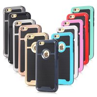 abs brushes - New Brushed Hybrid in TPU PC Hard Armor Case Back Phone Cover for iphone s se c s plus Phone Case