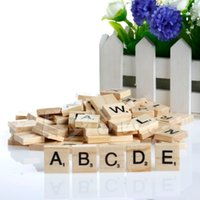 Wholesale Hot Wooden Alphabet Scrabble Tiles Black Letters Numbers For Crafts Wood