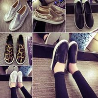 Wholesale Women s Fashion Flat Shoes Casual Faux Leather Thick Soled Round Shoes