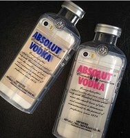absolut prices - Factory Price New Cheap D Transparent ABSOLUT VODKA Case For iPhone SE plus Wine Beer Bottle Design TPU Phone Case Cover Free DHL