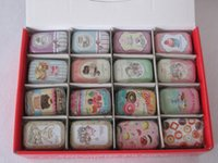 Wholesale New vintage small cake series quality iron case storage case tin box