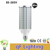 aluminum long - 10x Aluminum PCB Cooling LED Corn Lamp High Power E27 E40 B22 W LEDs V No Fliker Long Lifespan Super Bright Light Bulbs