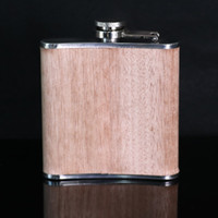 alcohol names - oz wooden wrapped electroplating stainless steel hip flask personalized gift your name show on whisky alcohol drinkware flasks