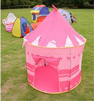 Wholesale 500pcs Hot Sale Prince And Princess Palace Castle Children Playing Indoor Outdoor Toy Tent Colors Mixed jy301